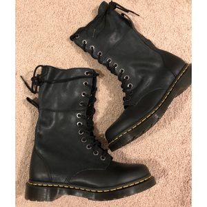 Dr Martens Hazil Leather Foldable Combat Boots